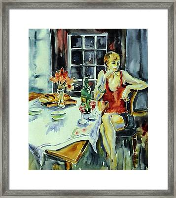 Isabelle From Paris -    Framed Print by Trudi Doyle