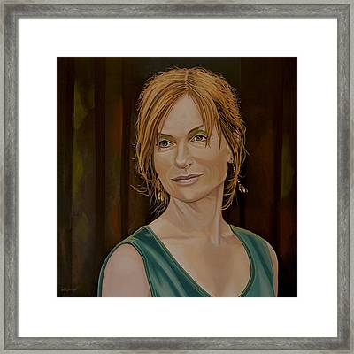 Isabelle Huppert Painting Framed Print by Paul Meijering