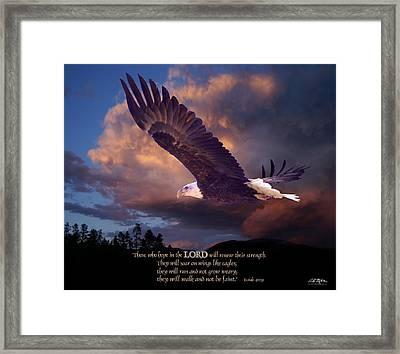 Isaiah 40 31 Framed Print