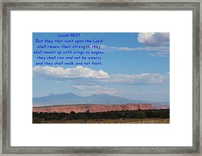 Isaiah 40-31 Canyonlands N P  Framed Print