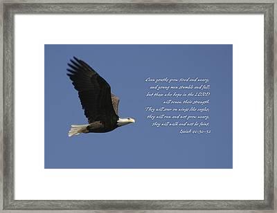 Isaiah 40 Framed Print