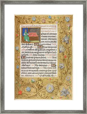 Isaiah Enthroned Framed Print by British Library