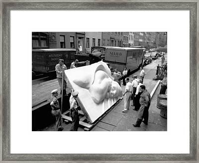 Isamu Noguchi Framed Print by Underwood Archives
