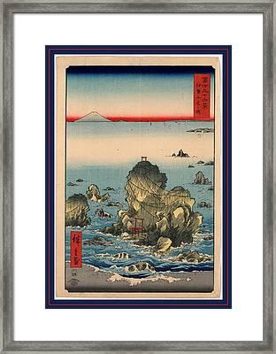 Ise Futamigaura, Futamigaura In Ise Province Framed Print by Utagawa Hiroshige Also And? Hiroshige (1797-1858), Japanese