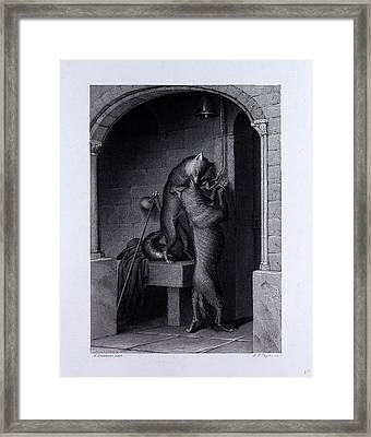 Isegrim And The Bells Framed Print by English School