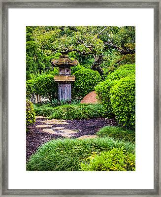 Ishidoro Stone Lantern Framed Print