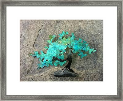 Ishitsuki Copper Bonsai Framed Print by Vanessa Williams