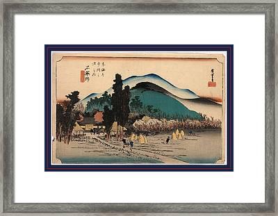 Ishiyakushi, Ando Between 1833 And 1836 Framed Print by Utagawa Hiroshige Also And? Hiroshige (1797-1858), Japanese