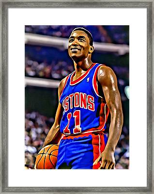 Isiah Thomas Framed Print