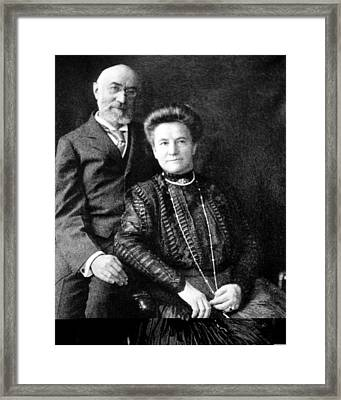 Isidor And Ida Straus, Titanic Victims Framed Print by Science Photo Library