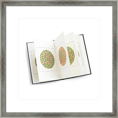 Isihara Colour Vision Test Charts Framed Print by Science Photo Library