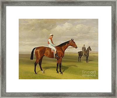 Isinglass Winner Of The 1893 Derby Framed Print by Emil Adam