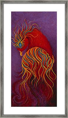 Isis Mythical Phoenix Framed Print by Karen Balon