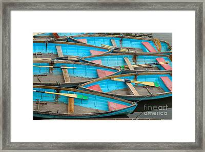 Isis Rowing Boats Framed Print by OUAP Photography