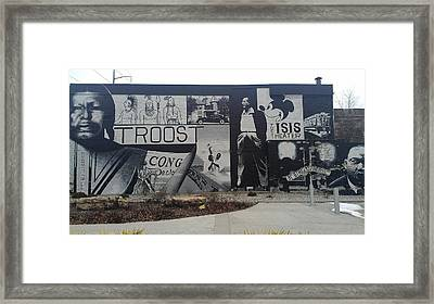 Isis Theater 3102 Troost Ave Kansas City Mo Side Of The Building Tribute Framed Print by Sonya Wilson