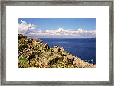 Framed Print featuring the photograph Isla Del Sol by Suzanne Luft