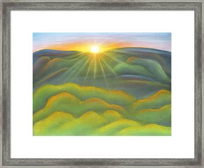 Isla Gorge Sunset Framed Print