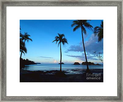 Isla Secas Framed Print by Carey Chen