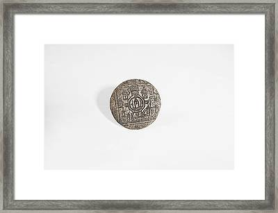 Islamic Bronze Seal Framed Print by Science Photo Library