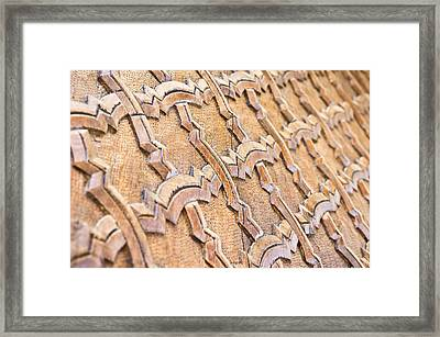 Islamic Carving Framed Print by Tom Gowanlock