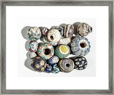 Islamic Glass Beads Framed Print by Photostock-israel