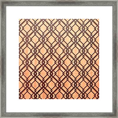 Islamic Pattern Framed Print by Tom Gowanlock