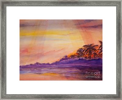 Islamorada Sunset Framed Print by Michelle Wiarda