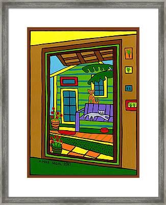 Island Arts Garden - Cedar Key Framed Print