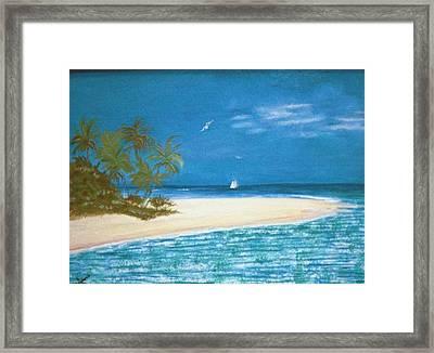 Island Beach Framed Print