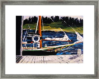 Framed Print featuring the painting Island Berth by John Williams