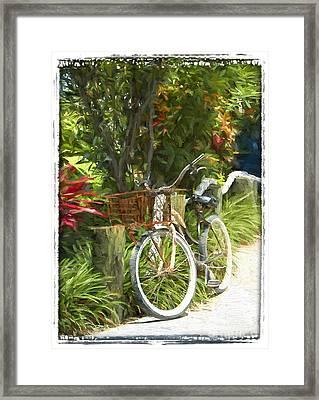 Island Bike Framed Print