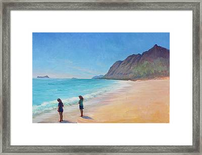 Island Breeze Framed Print by Gwen Carroll