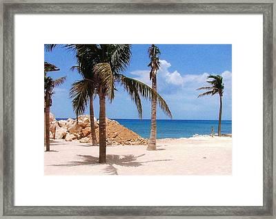 Framed Print featuring the photograph Island Breeze by Judy Palkimas