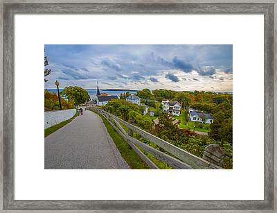 Island By Bike Framed Print