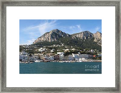 Island Capri Panoramic Sea View Framed Print