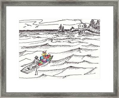 Island Christmas In Coastal Maine Framed Print by Robert Parsons