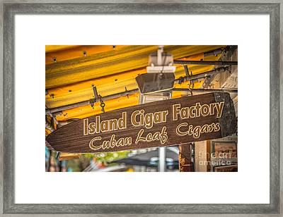 Island Cigar Factory Key West - Hdr Style Framed Print by Ian Monk