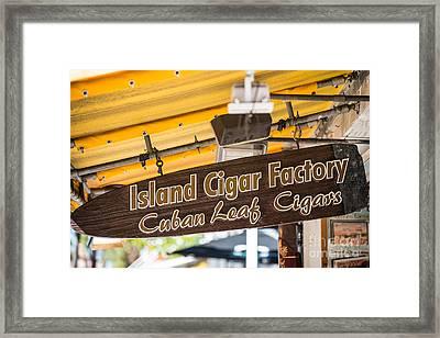 Island Cigar Factory Key West  Framed Print by Ian Monk