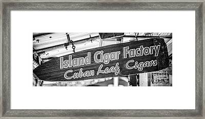 Island Cigar Factory Key West - Panoramic - Black And White Framed Print by Ian Monk