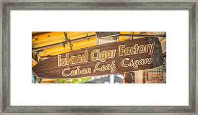 Island Cigar Factory Key West - Panoramic - Hdr Style Framed Print by Ian Monk