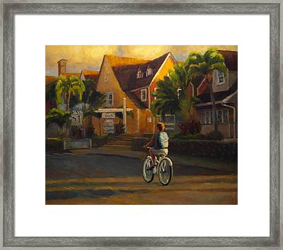 Island Commute Framed Print by Jeanne Young