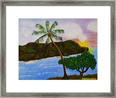 Island Escape Framed Print by Celeste Manning