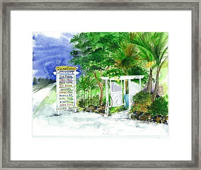 Island Farm Eleuthera Bahamas Framed Print