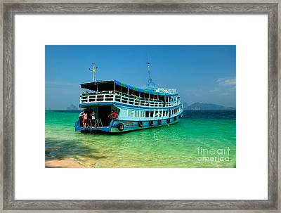 Island Ferry  Framed Print by Adrian Evans