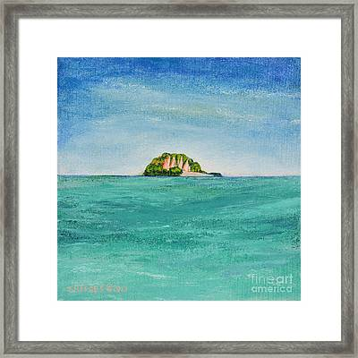 Island For Two Framed Print