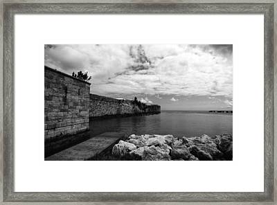 Island Fortress  Framed Print