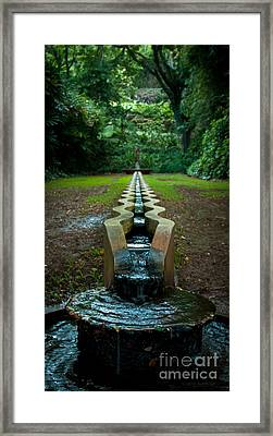 Island Fountain Framed Print