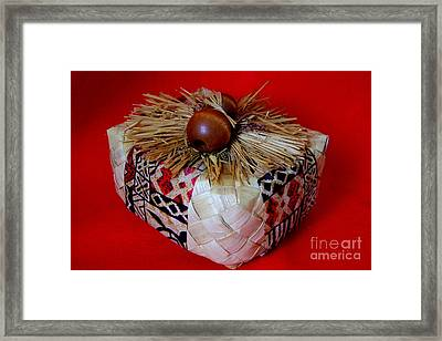 Island Gift Box With Ipu Framed Print by Mary Deal