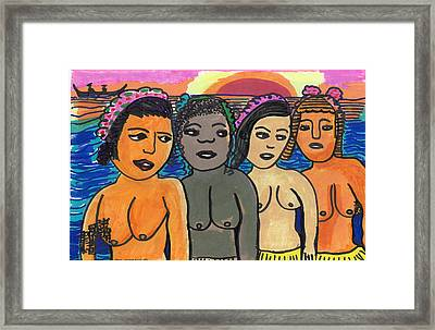 Island Girls Framed Print by Don Koester