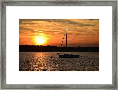 Island Heights Sunset Framed Print